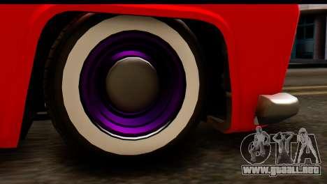 EFLC TLaD Vapid Slamvan SA Mobile para GTA San Andreas vista hacia atrás