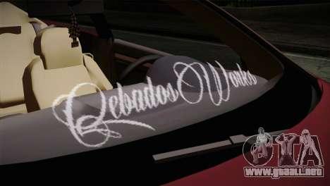 Volkswagen Golf 5 para GTA San Andreas vista hacia atrás