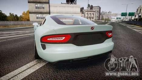 Dodge Viper SRT 2013 rims3 para GTA 4 Vista posterior izquierda
