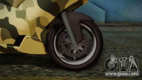 GTA 5 Bati Green para GTA San Andreas vista posterior izquierda