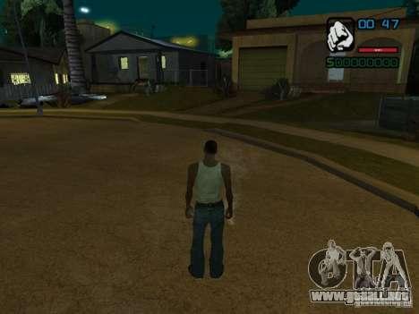 CLEO de HP en números para GTA San Andreas segunda pantalla