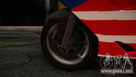 GTA 5 Bati American para GTA San Andreas vista posterior izquierda