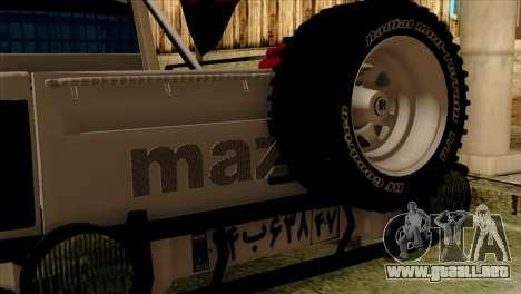Mazda Pickup Full Sport para la visión correcta GTA San Andreas