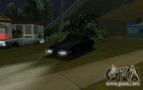 K.i.T.T. 2000 para GTA San Andreas vista posterior izquierda