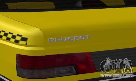 Peugeot 405 Roa Taxi para las ruedas de GTA San Andreas