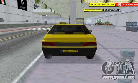 Peugeot 405 Roa Taxi para GTA San Andreas vista hacia atrás