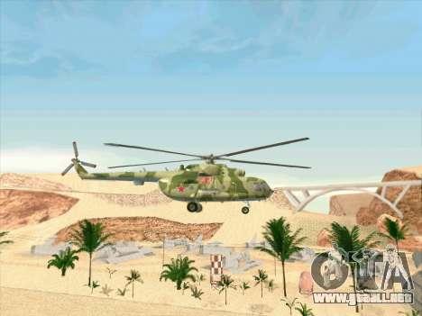 Mi-8 para GTA San Andreas vista hacia atrás