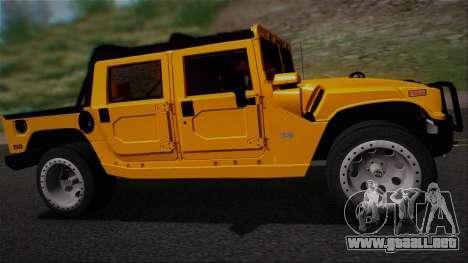 Hummer H1 Alpha OpenTop 2006 Stock para la visión correcta GTA San Andreas