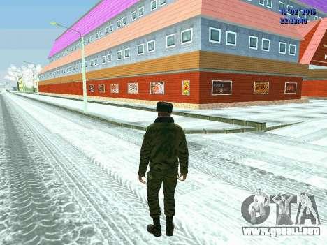 Pak militar de la Federación de rusia en el invi para GTA San Andreas sucesivamente de pantalla
