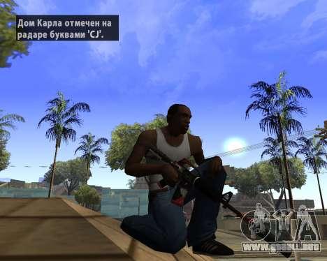 M4A1-S Syrex CS:GO para GTA San Andreas segunda pantalla