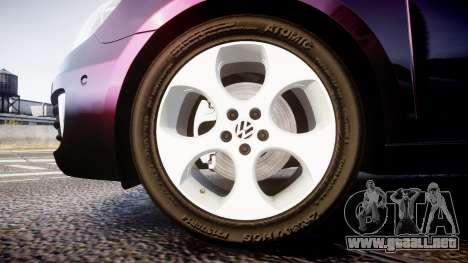 Volkswagen Golf Mk6 GTI rims1 para GTA 4 vista hacia atrás