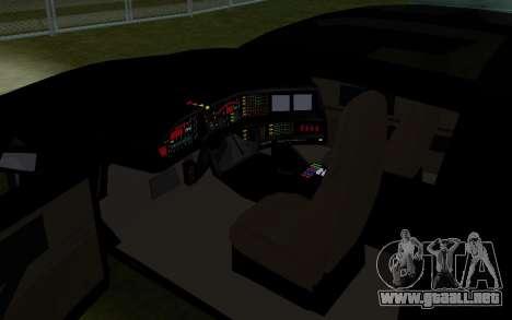 K.i.T.T. 2000 para GTA San Andreas vista hacia atrás