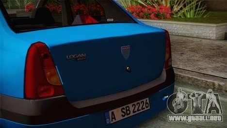 Dacia Logan 2006 para la visión correcta GTA San Andreas