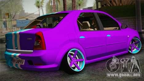 Dacia Logan Purple-Blue para GTA San Andreas left