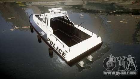 GTA V Police Predator [Fixed] para GTA 4 Vista posterior izquierda