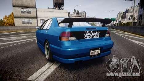 Bravado Feroci Los Santos Customs Edition para GTA 4 Vista posterior izquierda