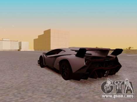 Lamborghini Veneno para GTA San Andreas vista hacia atrás