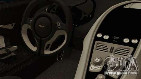 Aston Martin One 77 2010 para la visión correcta GTA San Andreas