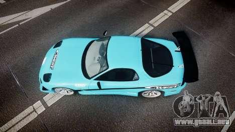 Mazda RX-7 C-West para GTA 4 visión correcta