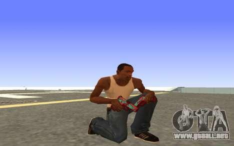 Glock-18 agua CS:GO para GTA San Andreas sucesivamente de pantalla