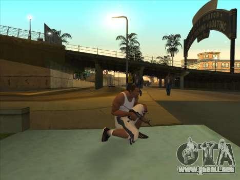 Ruso metralletas para GTA San Andreas segunda pantalla