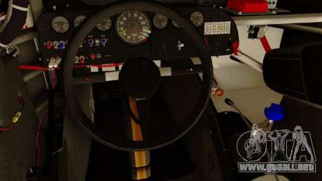NASCAR Chevy SS 2013 para GTA San Andreas vista hacia atrás