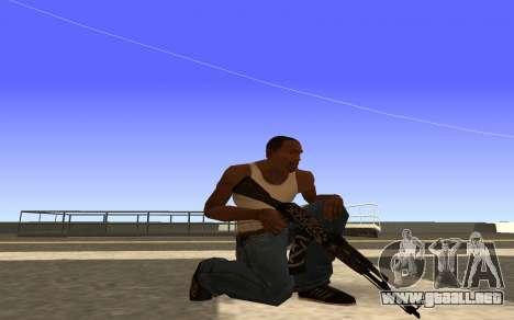 AK-47, Desert rebel CS:GO para GTA San Andreas segunda pantalla