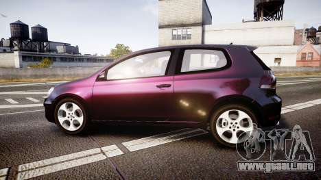 Volkswagen Golf Mk6 GTI rims1 para GTA 4 left