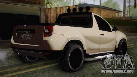 Dacia Duster Pickup 2014 para GTA San Andreas left