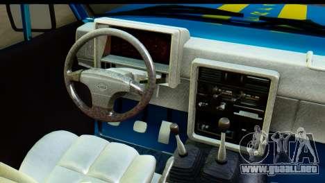 Nissan Junior 1982 Pickup Towtruck para visión interna GTA San Andreas