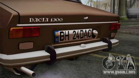 Dacia 1300 Biharia para GTA San Andreas vista hacia atrás