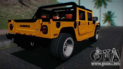 Hummer H1 Alpha OpenTop 2006 Stock para GTA San Andreas left