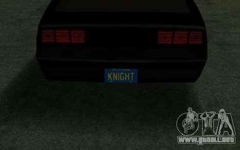 K.i.T.T. 2000 para la visión correcta GTA San Andreas