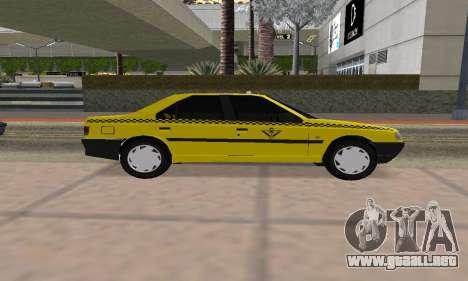 Peugeot 405 Roa Taxi para GTA San Andreas vista posterior izquierda
