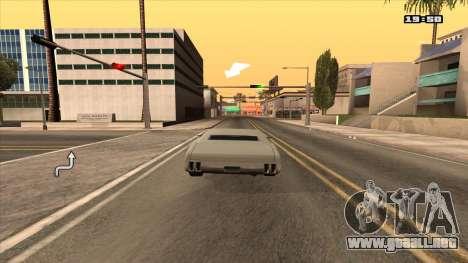 Navegador GPS con la voz de rusia para GTA San Andreas segunda pantalla