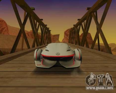 Mercedes-Benz Silver Arrows para GTA San Andreas vista hacia atrás