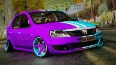 Dacia Logan Purple-Blue para GTA San Andreas