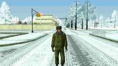 Pak militar de la Federación de rusia en el invierno de uniformes para GTA San Andreas