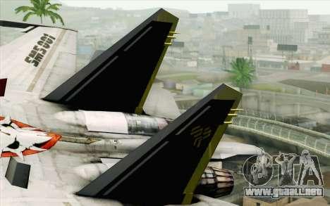 Sukhoi SU-27 Macross Frontier para GTA San Andreas vista posterior izquierda