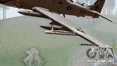 Embraer A-29B Super Tucano Navy White para la visión correcta GTA San Andreas
