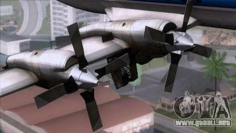 L-188 Electra TAME para la visión correcta GTA San Andreas