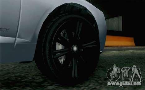 GTA 5 Obey Tailgater v2 IVF para GTA San Andreas vista posterior izquierda