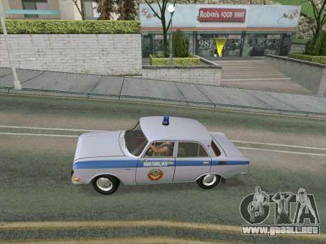 Moskvich 2140 Policía para la visión correcta GTA San Andreas