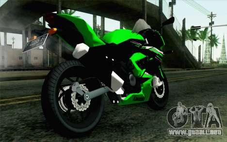 Kawasaki Ninja 250RR Mono Green para GTA San Andreas left