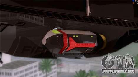 Shuttle v1 (wheels) para GTA San Andreas vista posterior izquierda