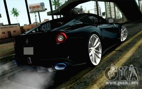 Ferrari F12 Berlinetta para GTA San Andreas left