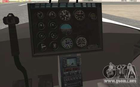 NFS HP 2010 Police Helicopter LVL 3 para GTA San Andreas vista hacia atrás