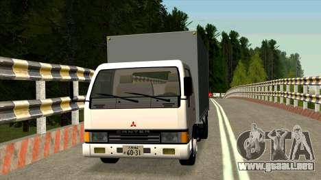 Mitsubishi Fuso Canter 1989 Aluminium Van para GTA San Andreas left