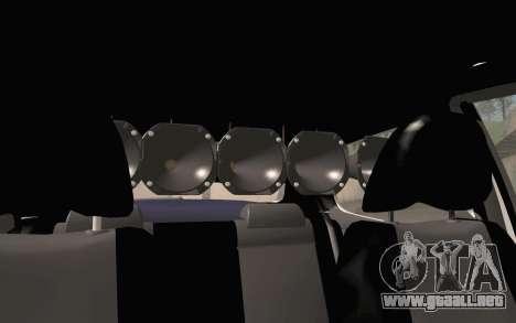 Volkswagen Fox para GTA San Andreas vista hacia atrás