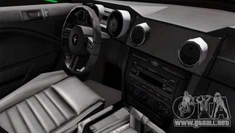 Ford Mustang GT Wheels 2 para la visión correcta GTA San Andreas